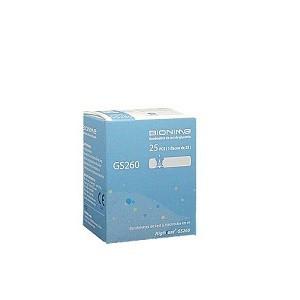 Bionime 25 bandelettes de test de glycémie GS260