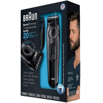 Braun Tondeuse BT3020 pour hommes, tondeuse à barbe rechargeable, sans fil