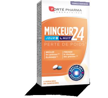 Forté Pharma MINCEUR 24 + Action jour Action nuit (28 comprimés)