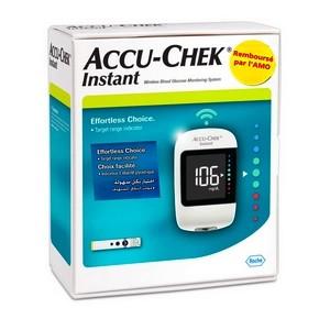 ACCU-CHEK INSTANT Lecteur de Glycémie + 10 Bandelettes