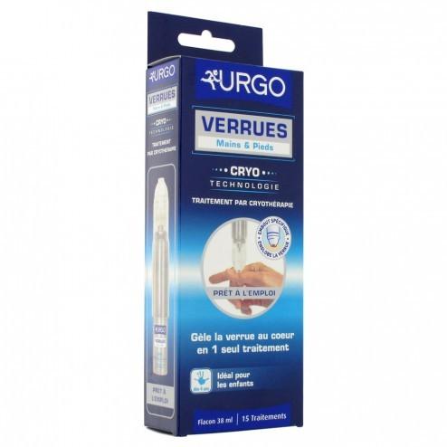 Urgo Verrues Mains et Pieds, traitement par cryothérapie ( 38 ml)