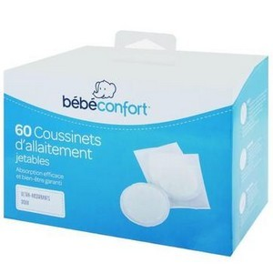 Bébé confort 60 Coussinets d'allaitement jetables ultra-absorbants