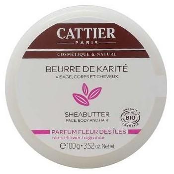 CATTIER Beurre de Karité - Fleur des îles 100g