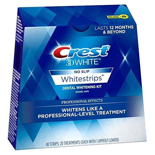 Crest 3D White Effets Professionnels Blanchiment Kit de Bandes 40 strips