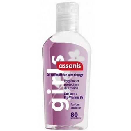 Assanis Amande Gel Antibacterien Aloé vera + Pro-vitamine B5 sans Rinçage 80 ml