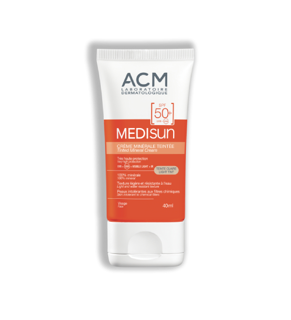 Acm Medisun Ecran mineral Teinte claire spf50+ 40ml