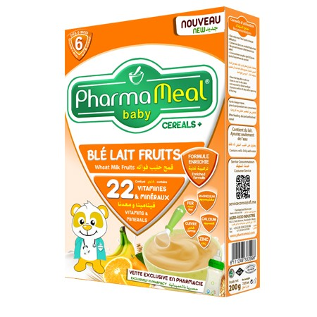 Pharmameal céréale blé lait fruits 200 grs