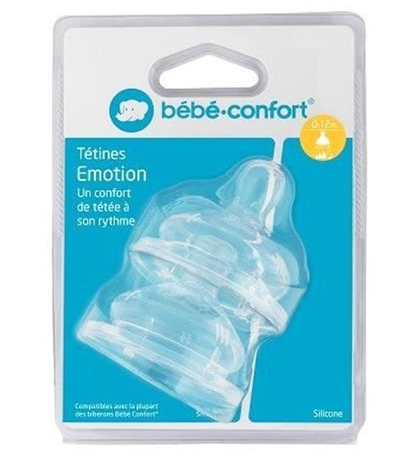 Bebe confort  2 tetines emotion col large T1 0-12m