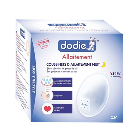 Dodie Coussinet Allaitement Adhésif Nuit x30