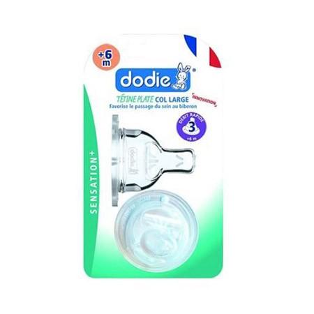 Dodie Tétine Plate Sensation+ (X2) D3