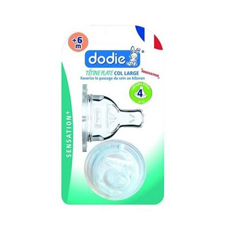 Dodie Tétine Plate Sensation+ (X2) D4 Liquide Epais