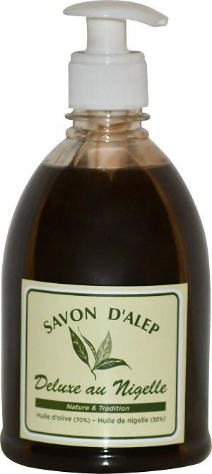 Savon d'Alep Liquide de Luxe au nigelle  500 ml