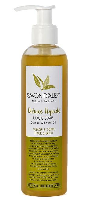 Savon D'Alep Deluxe Liquide à l'huile d'olive et Huile de baie laurier 250ml
