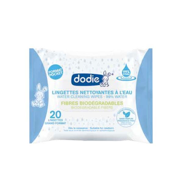 Dodie Lingettes 3en1 x20 unités format pocket