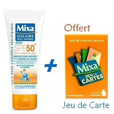 MIXA Solaire Peau Sensible Protection Enfant 1ères Sorties au Soleil 100ml + Jeu de Carte Offert Réf : 6111041124090