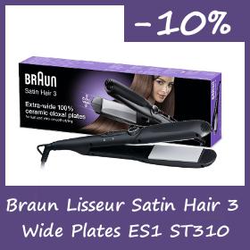 Braun Lisseur Satin Hair 3 wide plates ES1 st310 - 10% de Remise