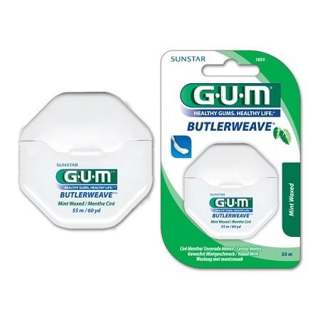 GUM butlerweave 1855 fil dentaire ciré menthe - Filament En Ruban55m