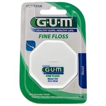 Gum Fil Dentaire 1555 Fine Floss Ciré - Espaces Etroits 55m