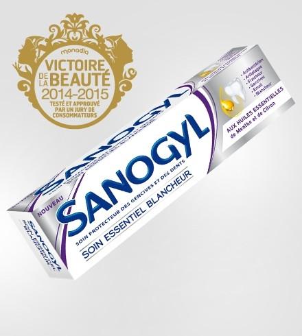 Sanogyl Dentifrice Soin Essentiel Blancheur (tube 75ml) Aux huiles Essentielles de Menthe et Citron
