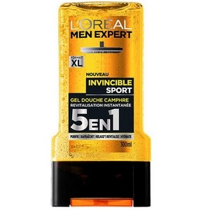 L'OREAL Men Expert Invincible Sport Gel Douche 5 en 1 (300 ml)  3600523434541