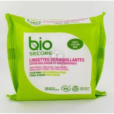 Bio Secure Lingettes Démaquillantes 25 Pièces