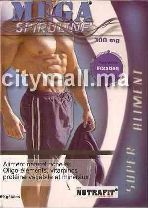 Mega spiruline 300 mg (60 gélules)