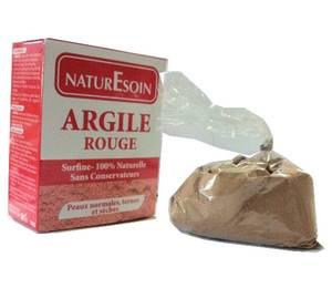 NaturEsoin Argile rouge 100% naturelle peaux normales a sèches , ternes