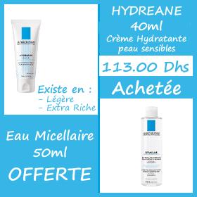 Offre La Roche-Posay Hydreane 40 ml + Eau Thermale 50ml Offerte