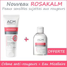 Offre - ACM ROSAKALM Crème anti-rougeurs + Eau micellaire Offerte