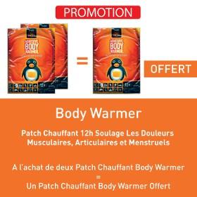 A l'achat de 2 patch chauffant body warmer = un patch body warmer offert