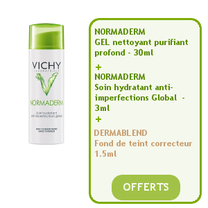 vichy normaderm soin hydratant anti imperfections 50ml gel nettoyant soin hydratant fond. Black Bedroom Furniture Sets. Home Design Ideas