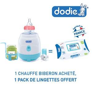 Dodie chauffe biberon = 1 pack Dodie lingettes offert