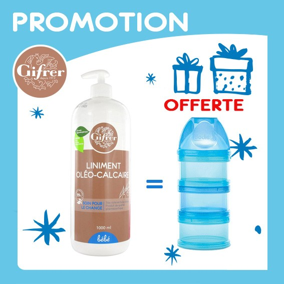 Offre Pack Liniment Oléo-Calcaire Huile Olive 900ml, Dodie Boite Doseuse Garçon Offerte