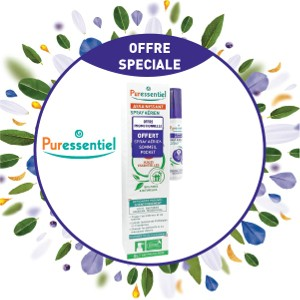 Pack Puressentiel Spray Aérien Assainissant 200 ml + Spray Aérien Sommeil et détente 20 ml OFFERT