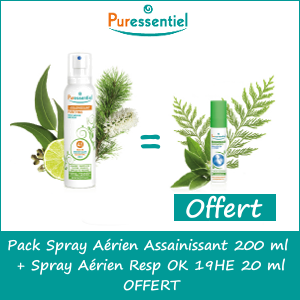 Pack Spray Aérien Assainissant 200 ml + Spray Aérien Resp OK 19HE 20 ml OFFERT