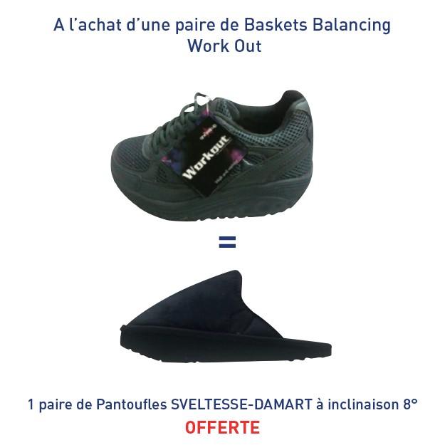 Baskets Balancing Work Out = Une paire de Pantoufles SVELTESSE-DAMART à inclinaison 8° offerte