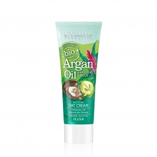 Eveline active bioargan Crème de jour L'huile d'argan bio + huile de pépins de raisin + aloe