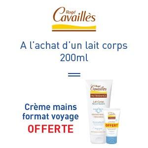Rogé Cavaillès lait corps 200ml = crème mains format voyage offerte