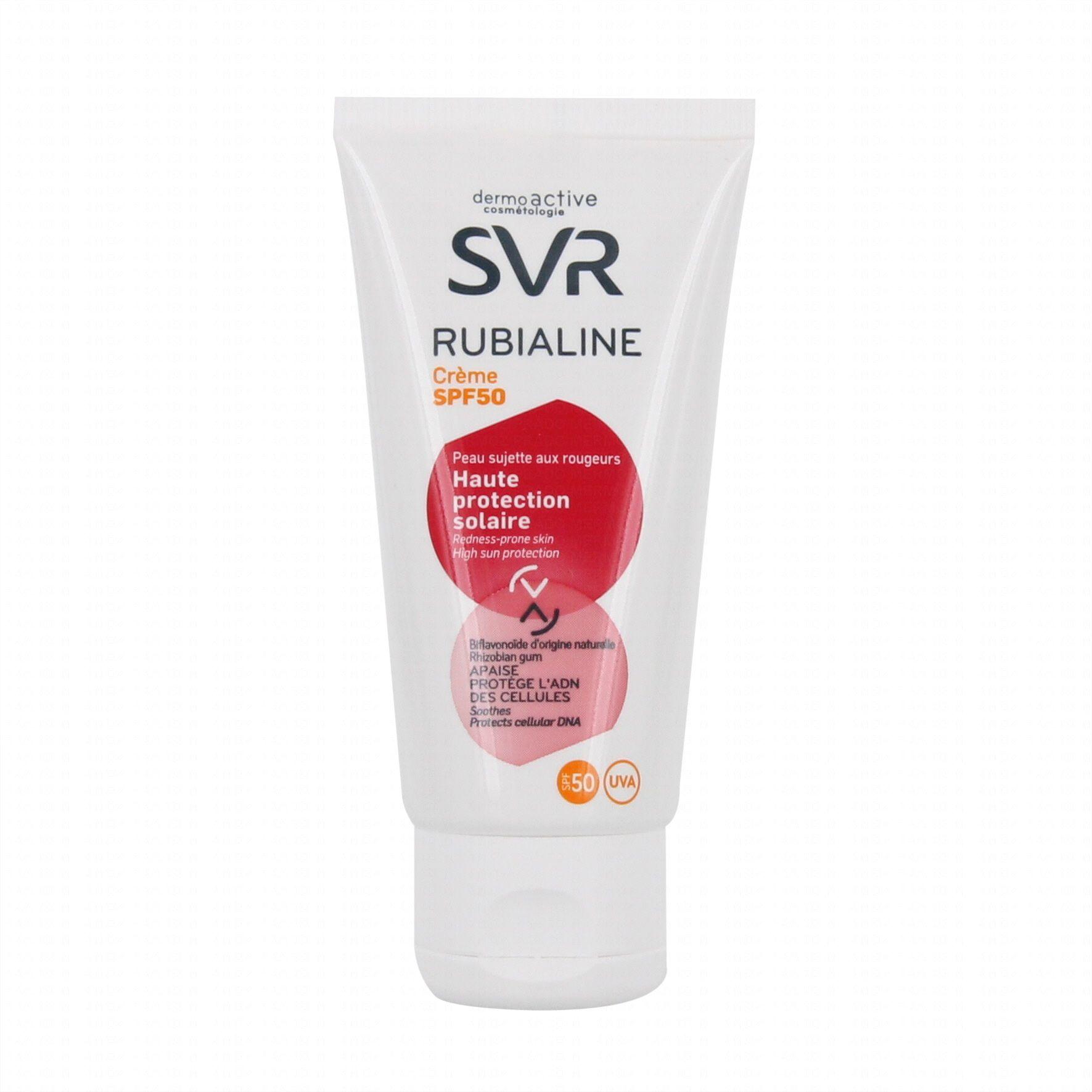 Svr Rubialine Crème solaire spéciale peaux sensibles SPF 50 (50 ml)NOUVEAU!