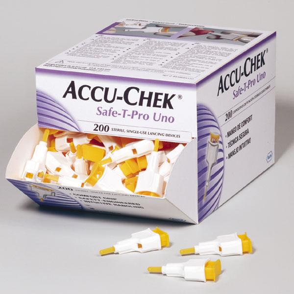 Lancettes Accu Chek Safe T Pro 200 Unités