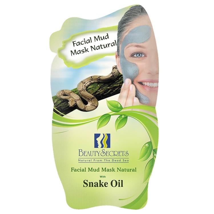 Beauty Secrets Masque facial a la Boue de la Mer Morte Avec l'extrait de Snake Oil 35g