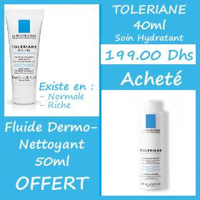 Offre La Roche-Posay Tolériane 40ml + Toleriane Dermo-Nettoyant 50ml Offert