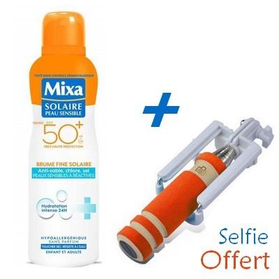 MIXA Solaire Peau Sensible Brume Fine SPF50+ 200ml + Baton à Selfie Offert Réf : 6111041124076