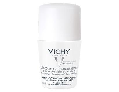 Vichy Déodorant Bille Peaux Sensibles ou épilées sans parfums sans alcool 48H