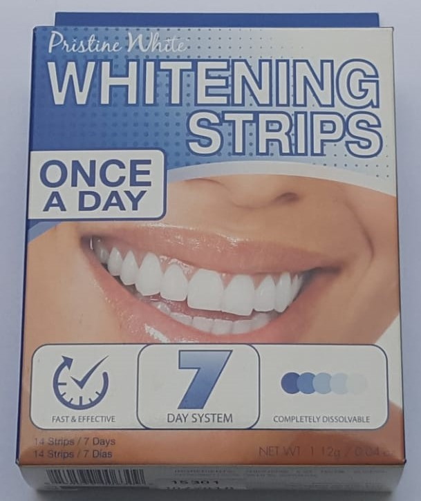 Beaming White Whitening Strips - Bandes de Blanchiment une fois par jour système de 7 jours made in USA