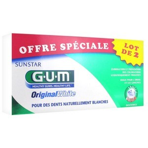 Offre Spéciale Gum Original White Dentifrice - Anti-Coloration 75ml  (lot de 2)
