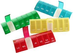 Anabox Box7 est un pilulier hebdomadaire d'une barrette de 7 cases