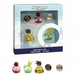 Air-Val Angry Bird Red Set Miniature - 3 Mini + 2 Badges Réf : 5817