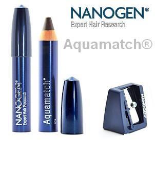 Nanogen aquamatch, crayons Keratine cheveux clairsemés ou gris waterproof