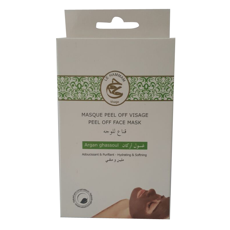 arganis argan ghassoul masque peel off visage